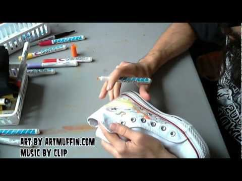 ARTmuffin vs. Clip, Hand Painted Kicks to Heavy Metal!