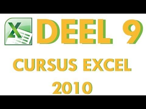 Cursus Excel 2010 Deel 9: Draaitabellen maken in Excel