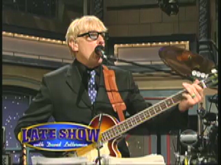 "Will Lee on Letterman with McCartney Guest ""America's Greatest Show Band"""