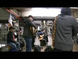 "Found in a New York City Subway ""El Condor Paso"" written by my friend Jorge Milchberg performed by Wayno in the Herald Square Station"