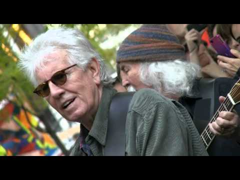 "DAVID CROSBY & GRAHAM NASH @ Occupy Wall Street ""Teach Your Children"" Zuccotti Park 11/8/11"