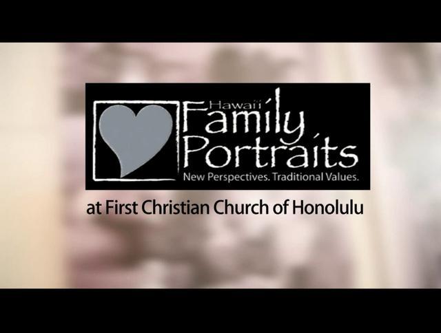 Hawaii Family Portraits at First Christian Church