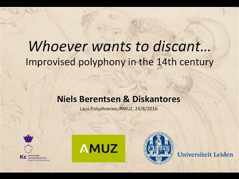 Improvised Polyphony in the 14th Century (Lecture-Performance)