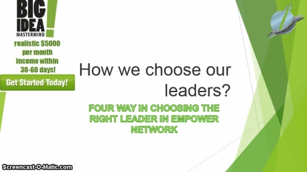 Choosing a right leader