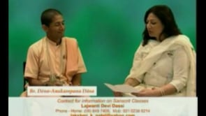 TV Interview with Dina Anukampana Das on Sanskrit Pronunciation Course & Gita Jayanti