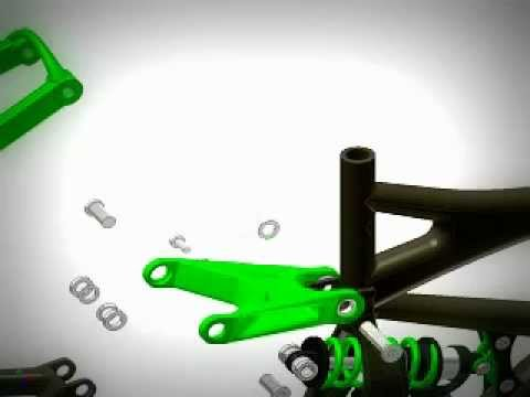 Assembly of Specialized Demo Freeride Mountain Bike - Autodesk Inventor
