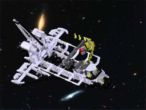 Lego Technic Set 8480 - Space Shuttle CAD Animation