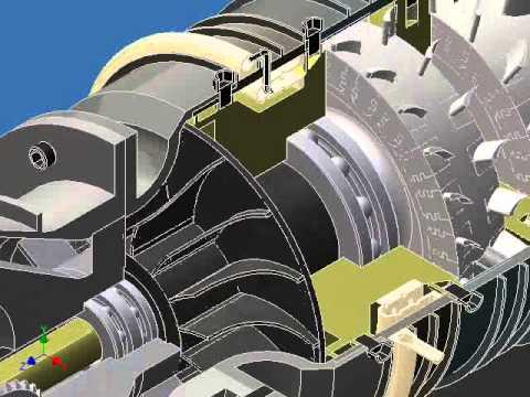 AutoDesk Inventor - Jet Engine Project Animation