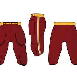 wholesale brick red american football pant suppliers