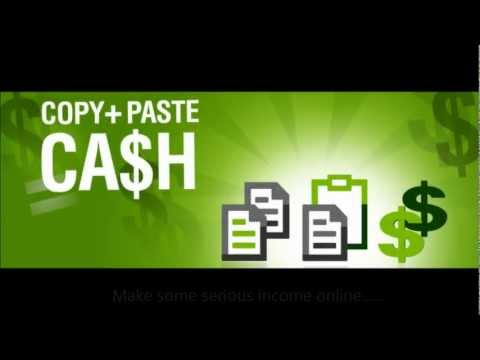 Can You Copy & Paste? You Could Already Made $100! Copy+Paste=Cash ~ TAKE A LOOK!!!