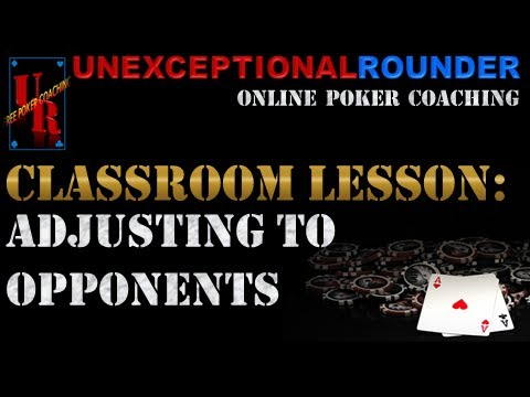 Texas Holdem Poker Strategy -  Adjusting to Opponents Lesson - Online Hold em Poker Coaching
