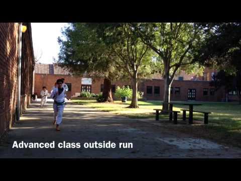 Running Outside at Zen Martial Arts in Sacramento