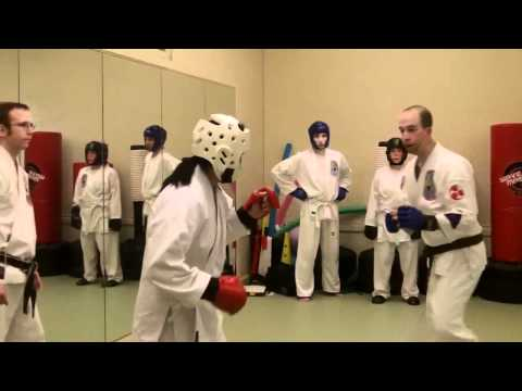 Brown Belt Sparring Test at Zen Martial Arts - Kat