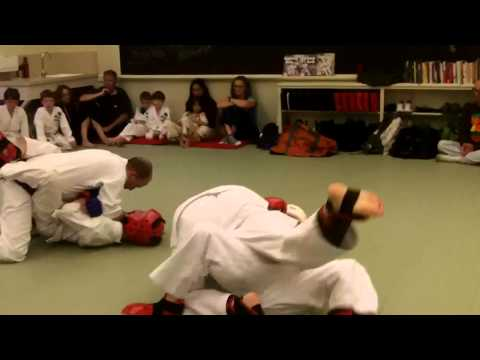 Brown Belt Sparring Test at Zen Martial Arts in Sacramento - Chrissy