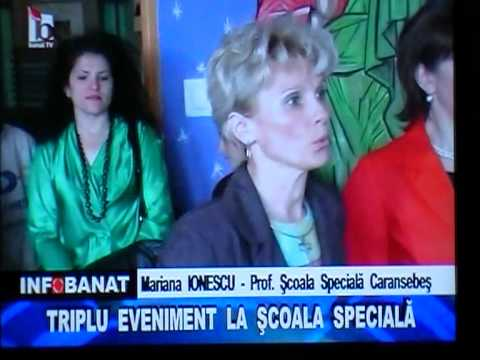 BANAT TV - 5 mai - Eveniment IN  Scoala Speciala Caransebes .