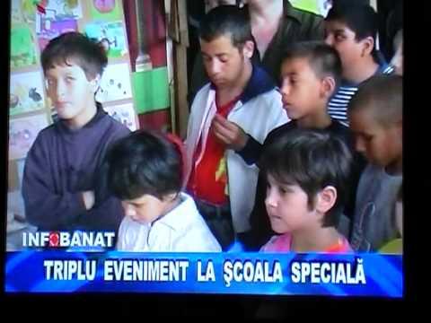 Stire flash BANAT TV - 5 mai - Eveniment cu tripla semnificatie Scoala Speciala Caransebes .