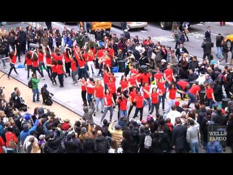 Wells Fargo Flash Mob -- Times Square