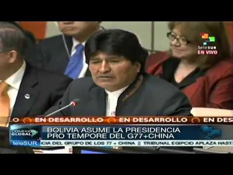 Evo Morales se compromete socialmente con el G77+China