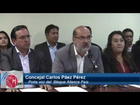 Bloque de Concejales de Alianza Pais, evaluan sobre el 1r año de  gestión de Rodas mpg