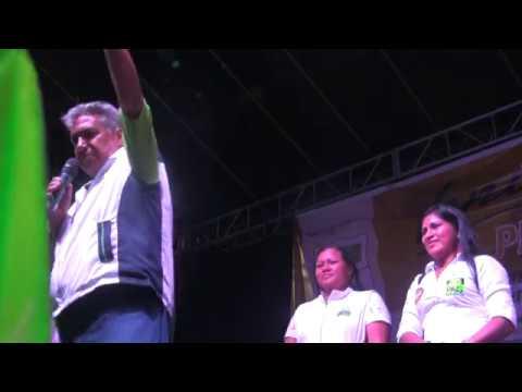 Cierre de la campaña electoral, candidatos del Napo de Alianza País