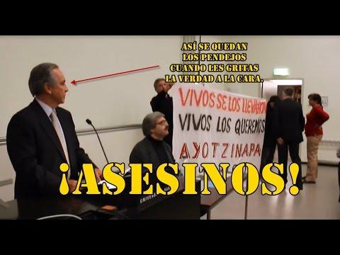 Frío se queda el embajador de México en Suiza. No esperaba el reclamo sobre #Ayotzinapa.
