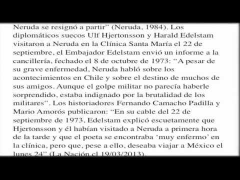 La muerte de Neruda no es una Casualidad.