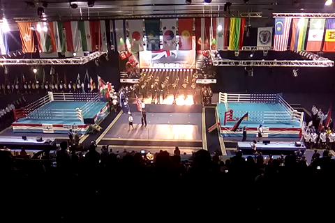 Abertura do Campeonato Mundial de Muaythai, Minsk Bielorussia, IFMA 2017.
