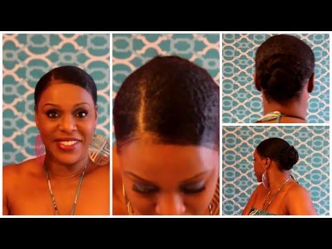 SLICK DOWN NATURAL HAIR PHONY PONY TUTORIAL
