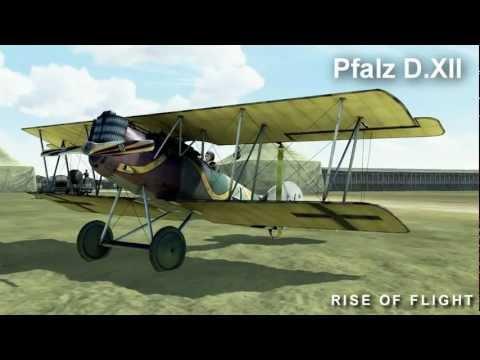 "Pfalz D.XII demo flight in ""Rise Of Flight"""