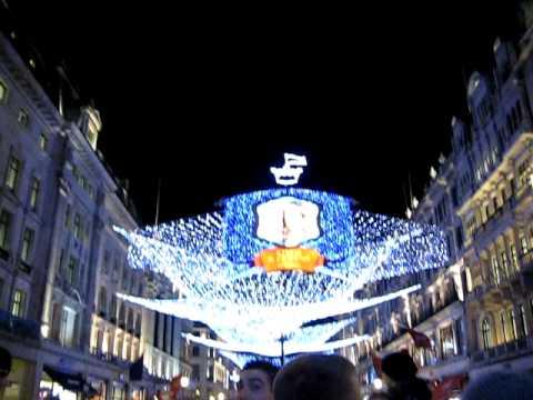 London: Switching on the Regent Street Christmas Lights 2010