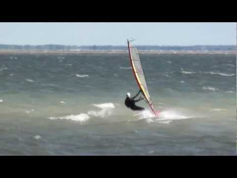 Windsurfing, Blue Lagoon, Lake St. Clair, Michigan, October 1, 2011