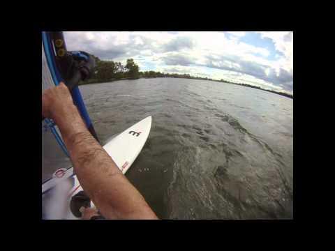 Windsurfing Grass Lake, MI 100904 25mph winds