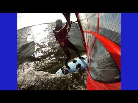 Windsurfing Cass Lake, Michigan, October 30, 2010