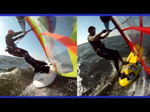 Windsurfing, Hatteras, North Carolina,  October 21, 2010