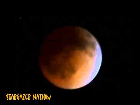 Total Lunar Eclipse, Blood Moon, The Tetrad Begins, Stargazing Live Footage