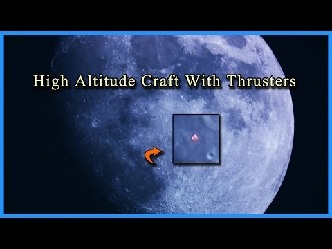 High Altitutde Craft With Thrusters Transits The Moon