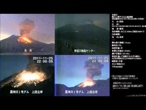 桜島を攻撃するレーザー <電磁波>