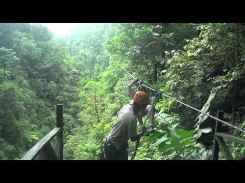 Zip line near Arenal Volcano in Costa Rica