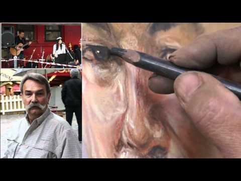 A pastel portrait demo by Svay Teng denis. PART 2