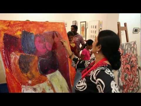 Spot painting at Lalit Kala Akademi Chennai