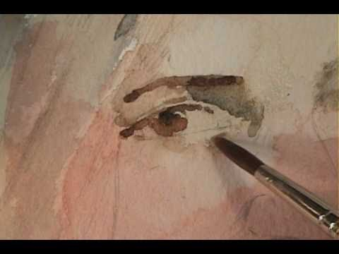 Detailing a Portrait in Watercolor