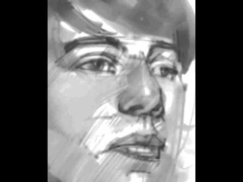 Portrait demo in Mypaint