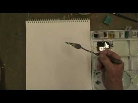 Painting Knife Techniques Lesson - How to use the painting knife in watercolours