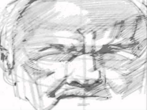 Portrait demo in Mypaint - 2