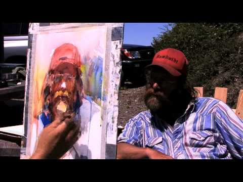 JIM McVICKER PAINTS time lapse WATERCOLOR PORTRAIT