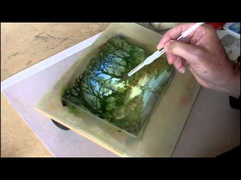 Woodland Stream Watercolour Painting Demonstration.