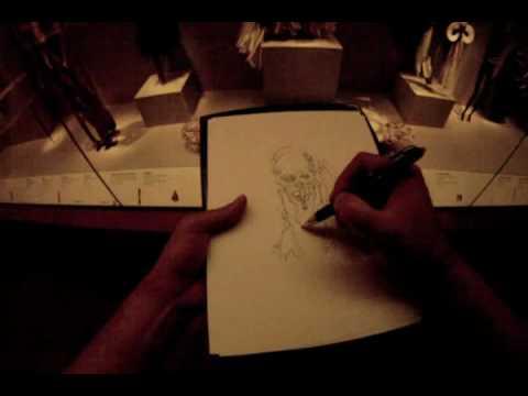 Sketching an Asmat Ancestor Skull