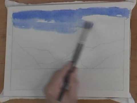 Watercolor Tutorial For Beginners - The Monochrome Technique