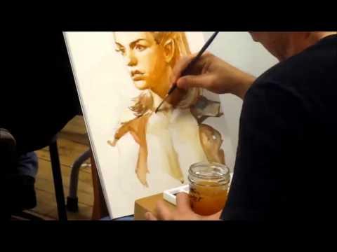 Iain McCaig Painting in Watercolor