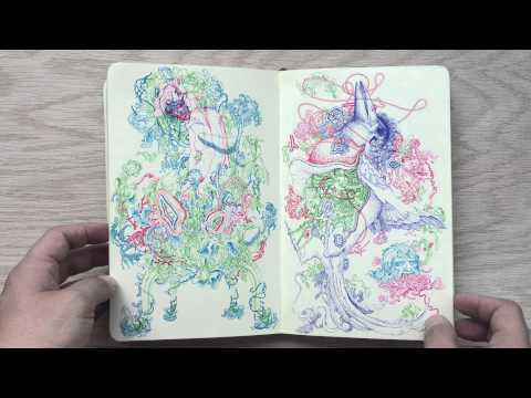 James Jean Moleskine Sketchbook 2010 - 2013
